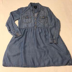 American Eagle Chambray Long Sleeve Dress